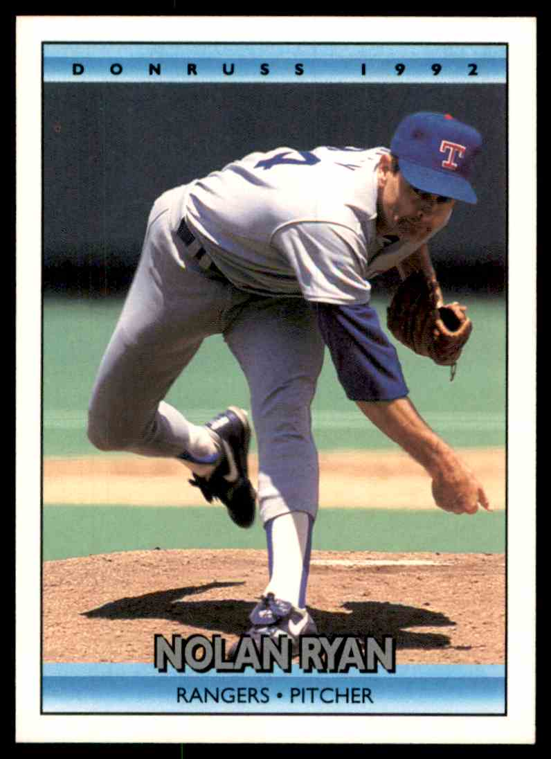 1992 TOPPS FREE SHIPPING NOLAN RYAN CARD #1 TEXAS RANGERS
