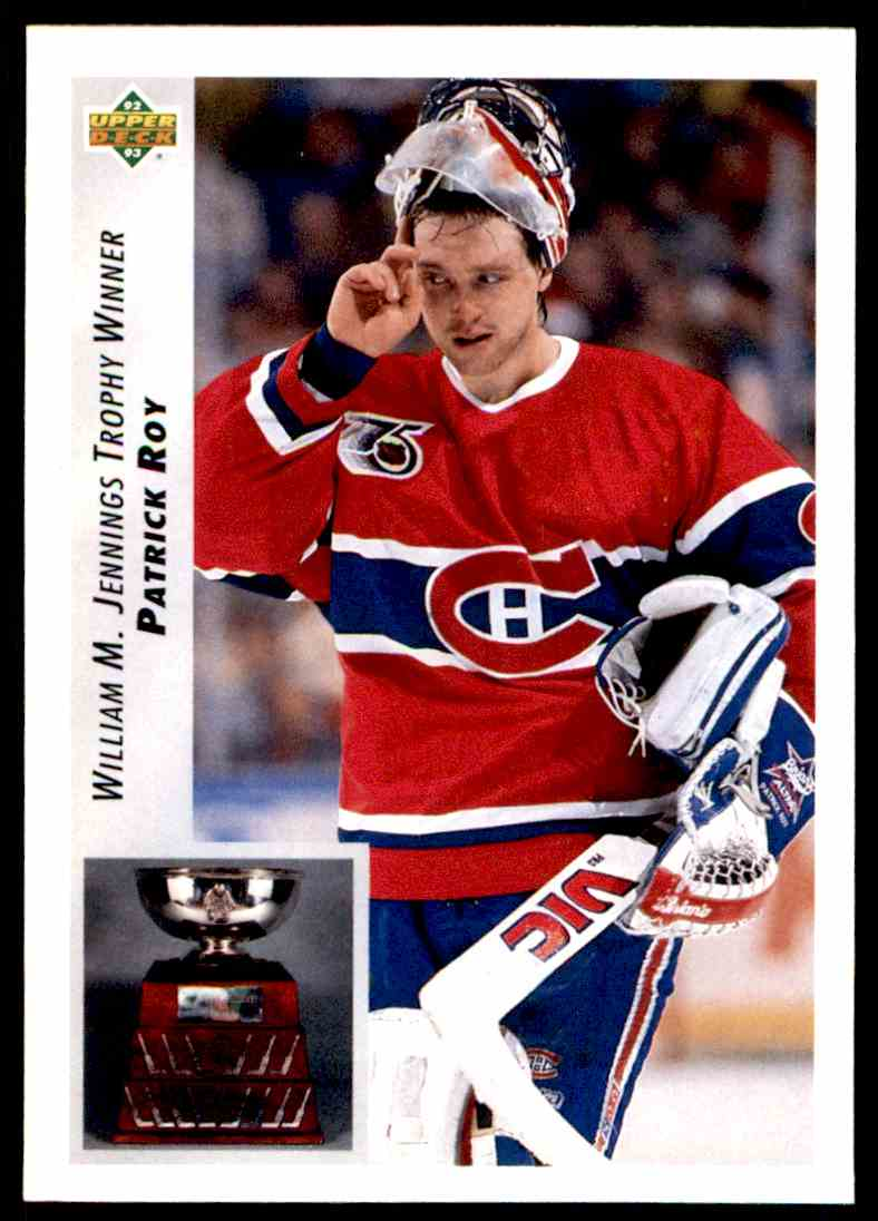 1992-93 Upper Deck Patrick Roy (Jennings Trophy) #440 card front image
