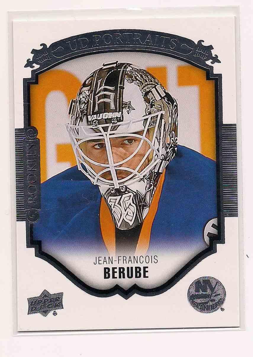 2015-16 Upper Deck UD Portraits Jean-Francois Berube #P-98 card front image