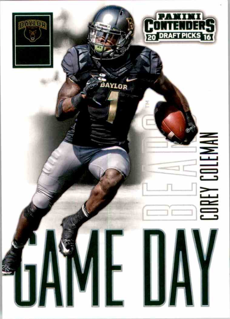 2016 Panini Contenders Draft Picks Game Day Tickets Corey Coleman #11 card front image