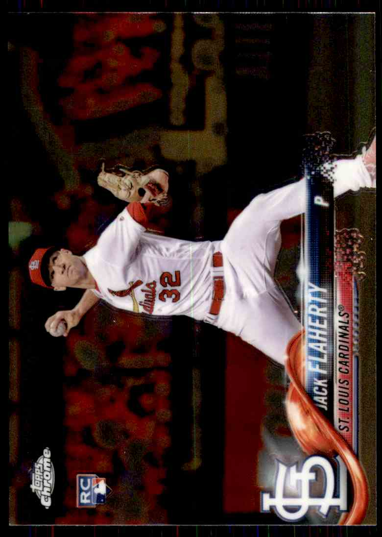 2018 Topps Chrome Jack Flaherty #4 card front image