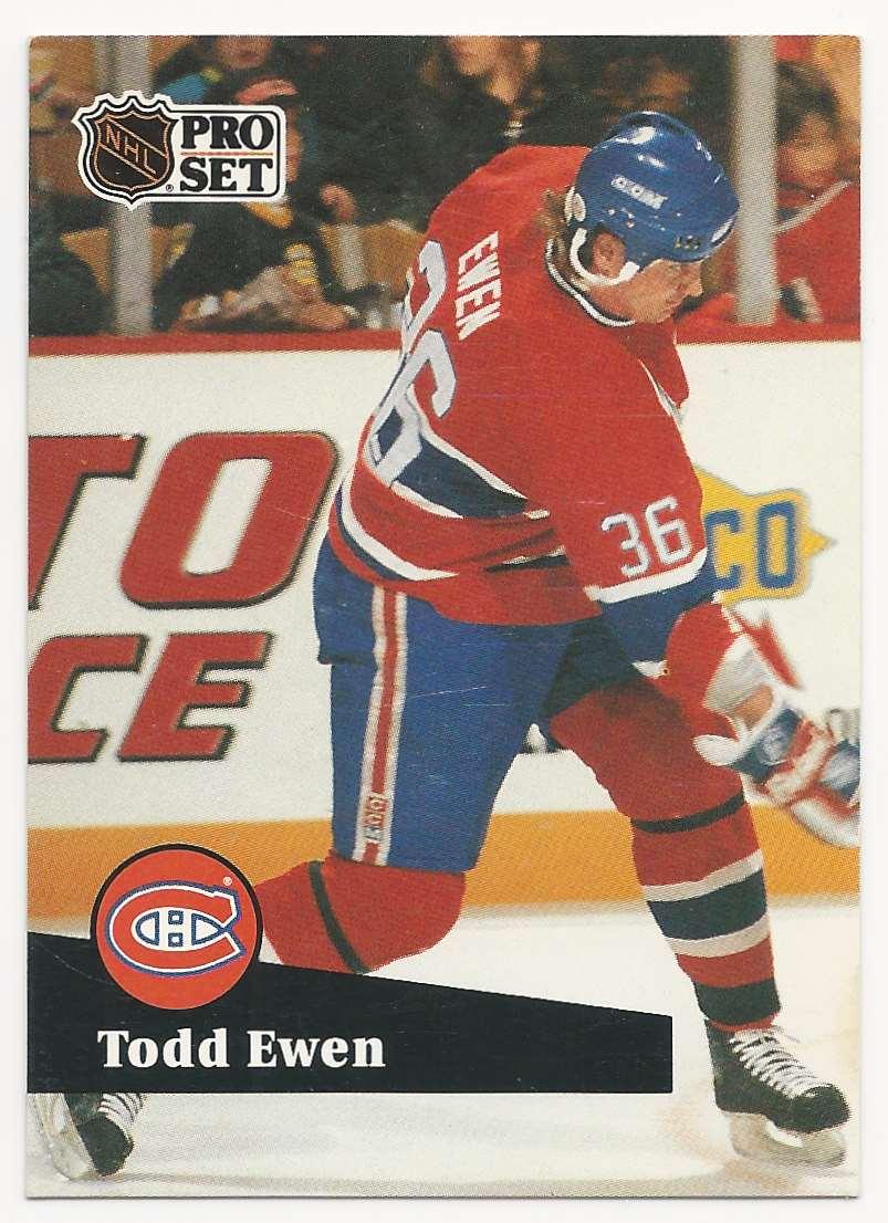 1991-92 Pro Set Todd Ewen #419 card front image