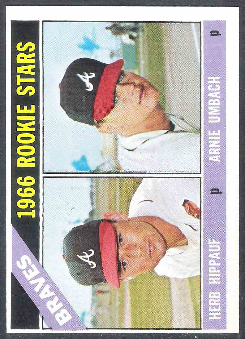 1966 Topps Herb Hippauf Arnie Umbach Nm #518 card front image