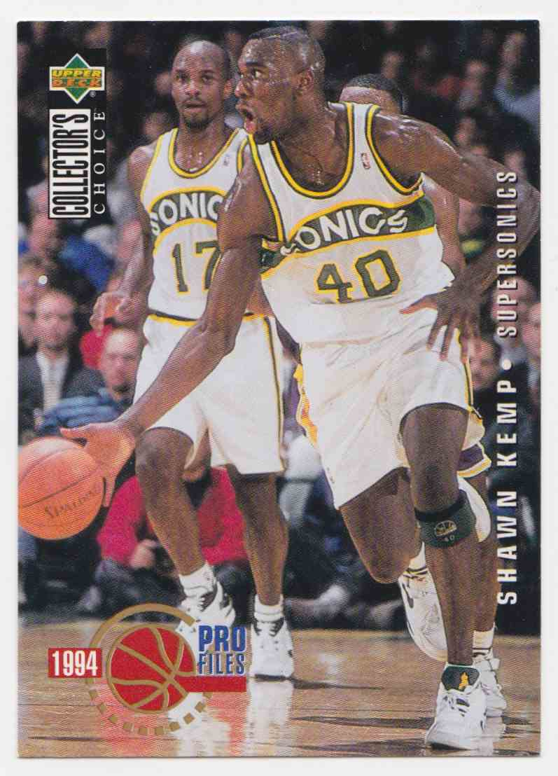 1994-95 Upper Deck Collector's Choice Base Shawn Kemp #203 card front image