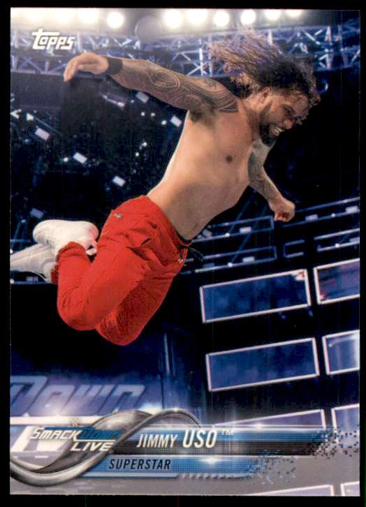 2018 Topps Wwe Jimmy Uso #41 card front image