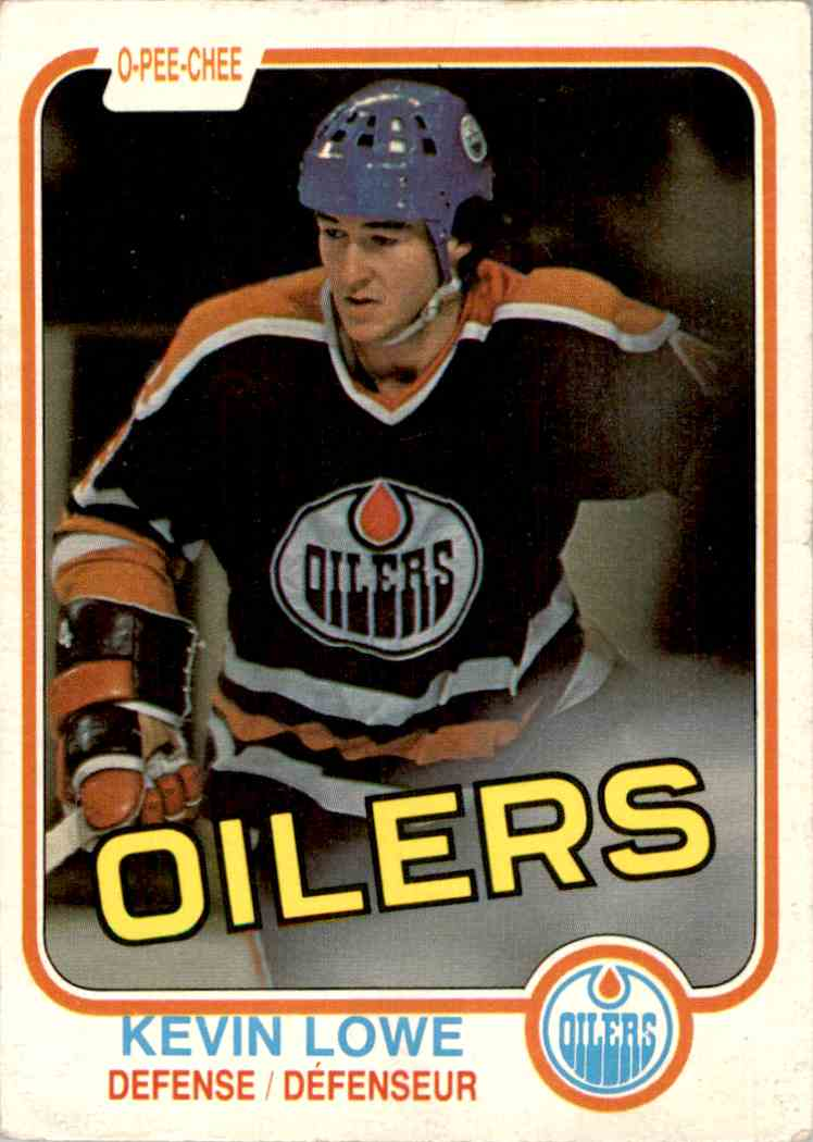 1981-82 O-Pee-Chee Kevin Lowe #117 card front image
