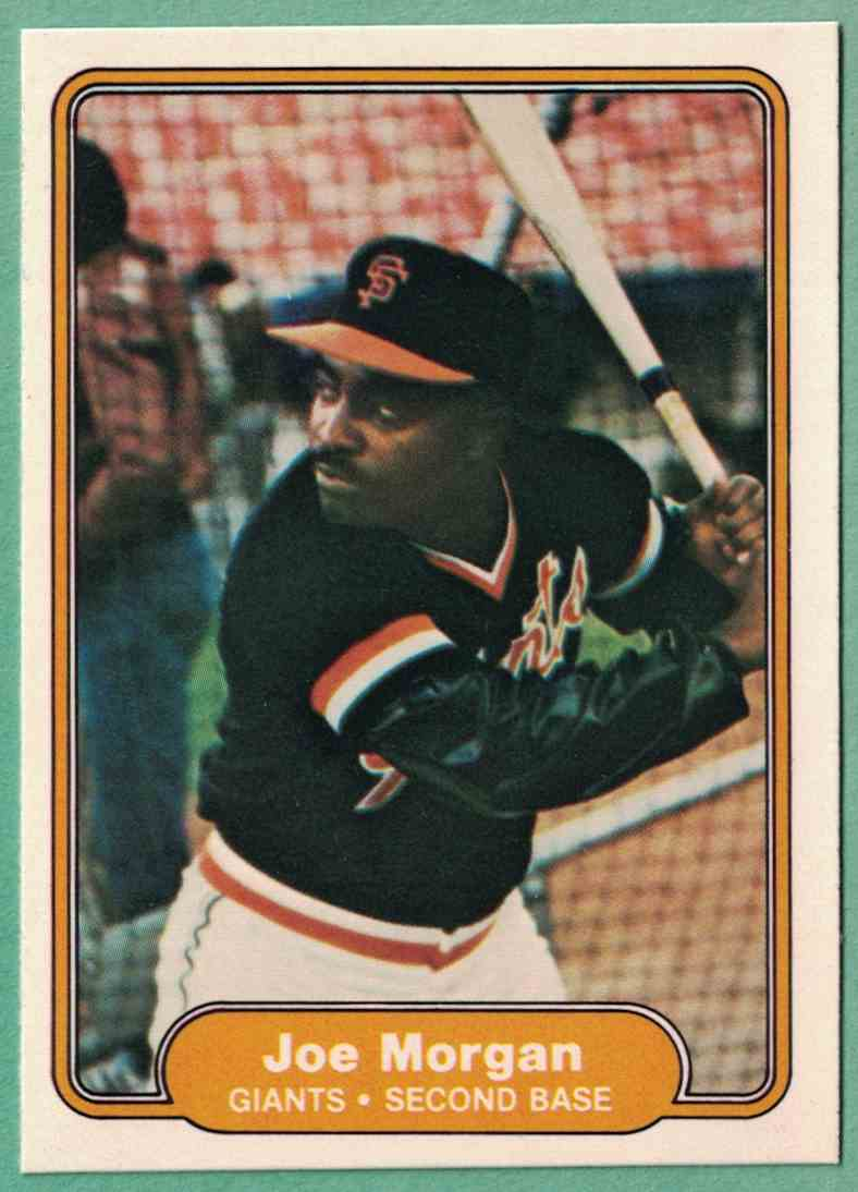 1981 Fleer Joe Morgan NM #397 card front image