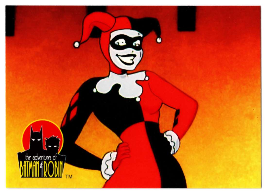 1995 Skybox Adventures Of Batman And Robin Harley Quinn #27 card front image