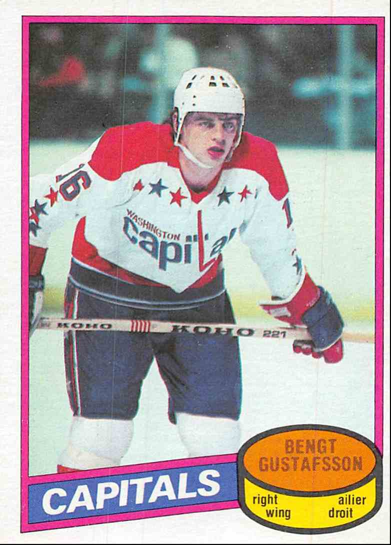 1980-81 O-Pee-Chee Bengt Gustafsson #222 card front image