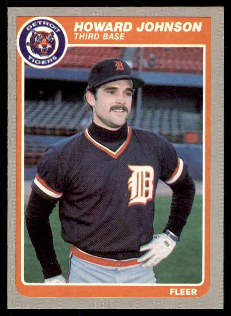 1985 Fleer Howard Johnson #12 card front image