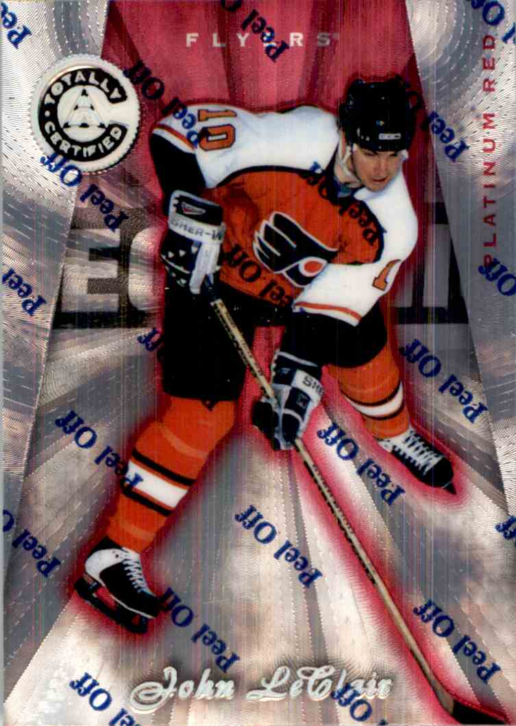 1997-98 Pinnacle Totally Certified Platinum Red John LeClair #119 card front image