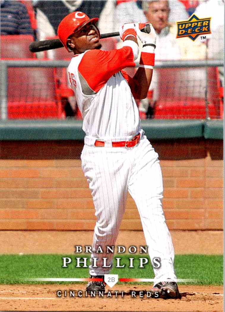 2008 Upper Deck First Edition Brandon Phillips #342 card front image