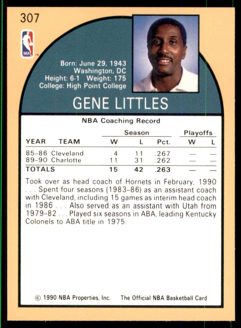 1990-91 Hoops Gene Littles Co #307 card back image