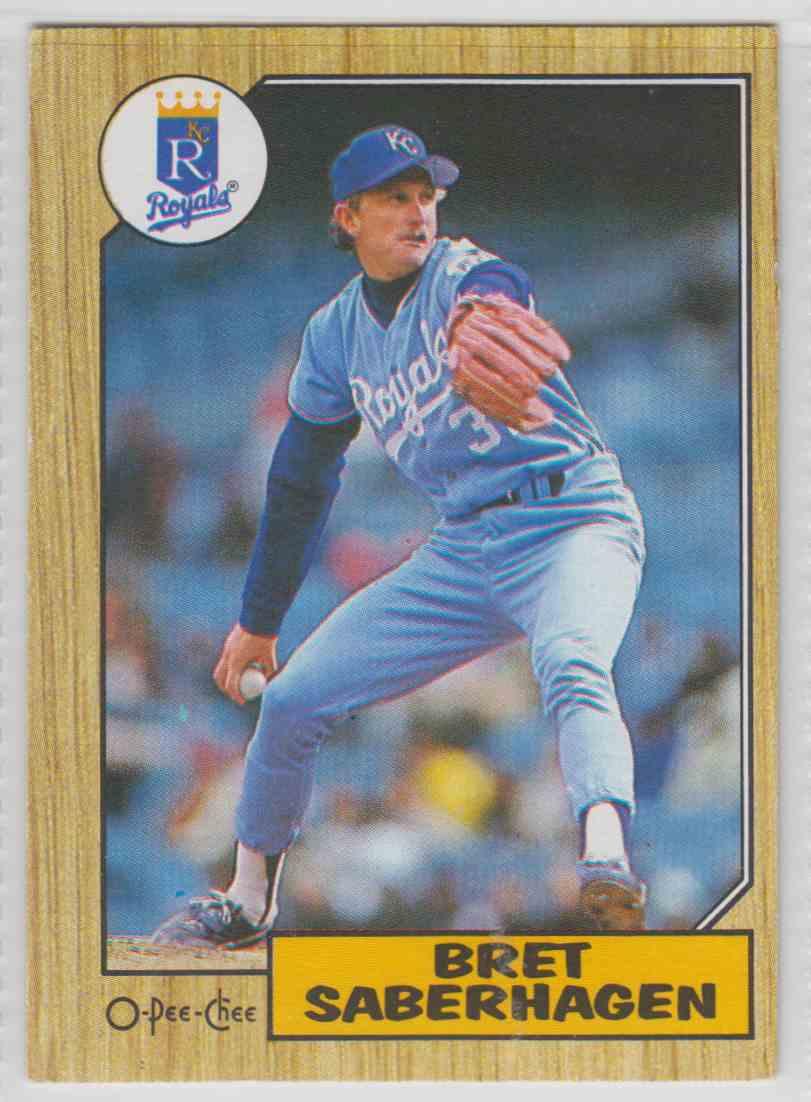 1987 O-Pee-Chee Bret Saberhagen #140 card front image
