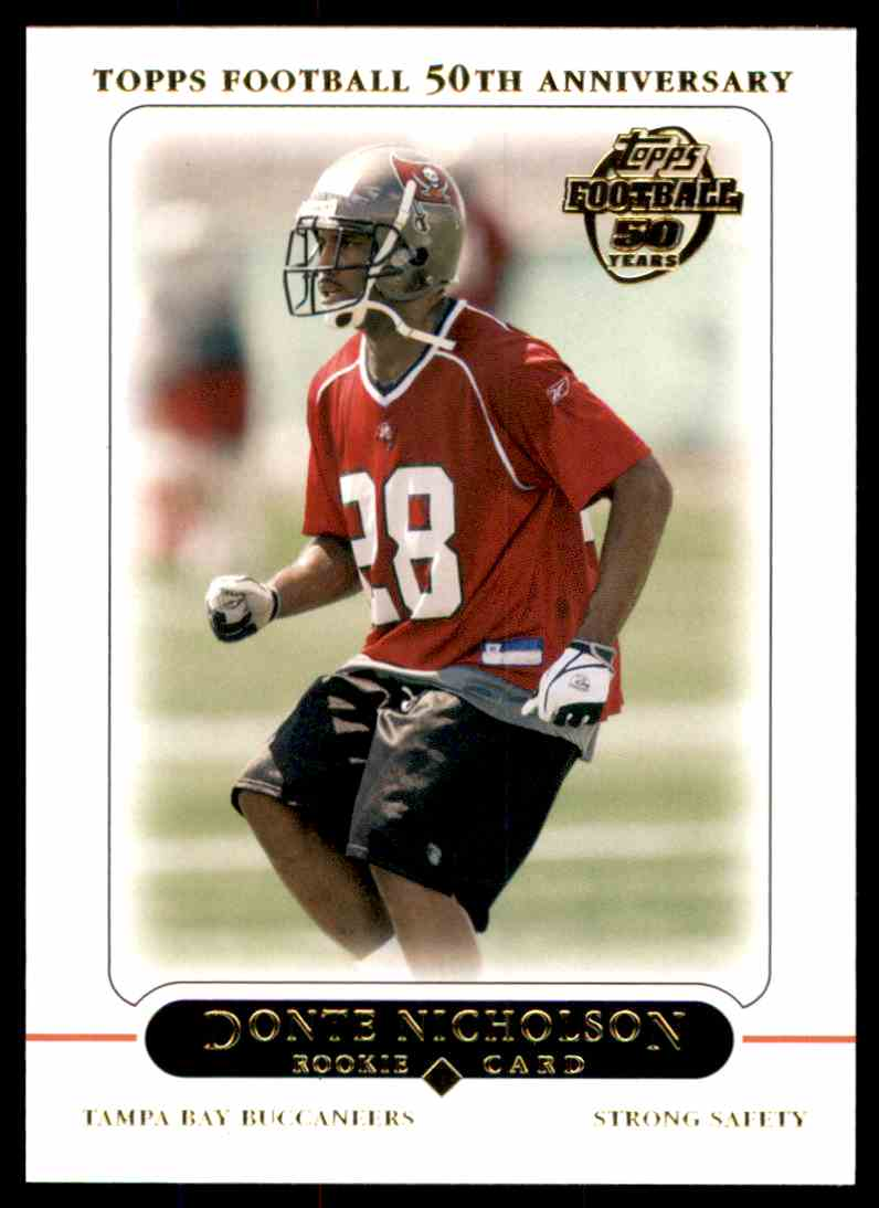 2005 Topps Donte Nicholson #374 card front image