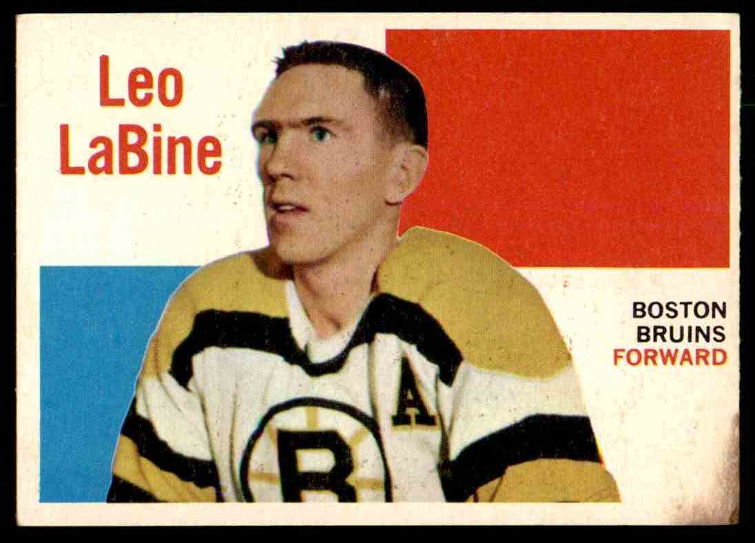 1960-61 Topps Leo Labine #13 card front image
