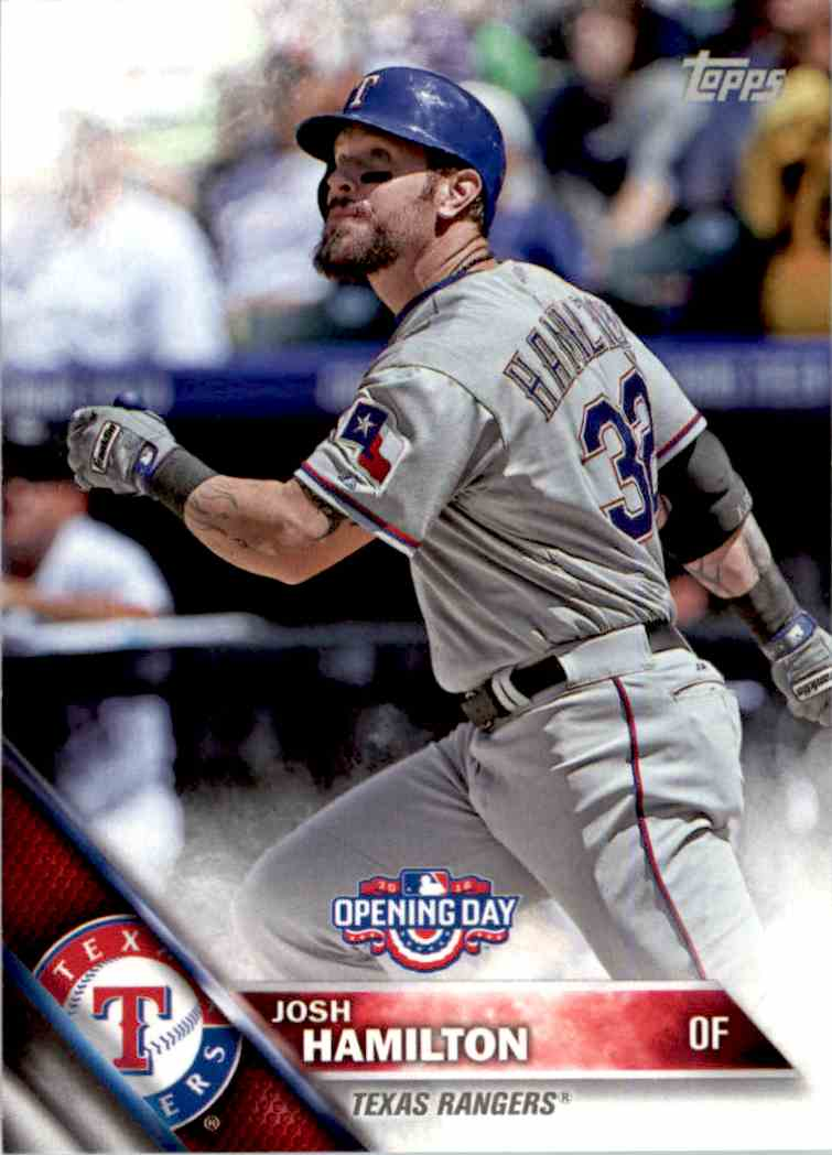 2016 Topps Opening Day Josh Hamilton #OD-102 card front image