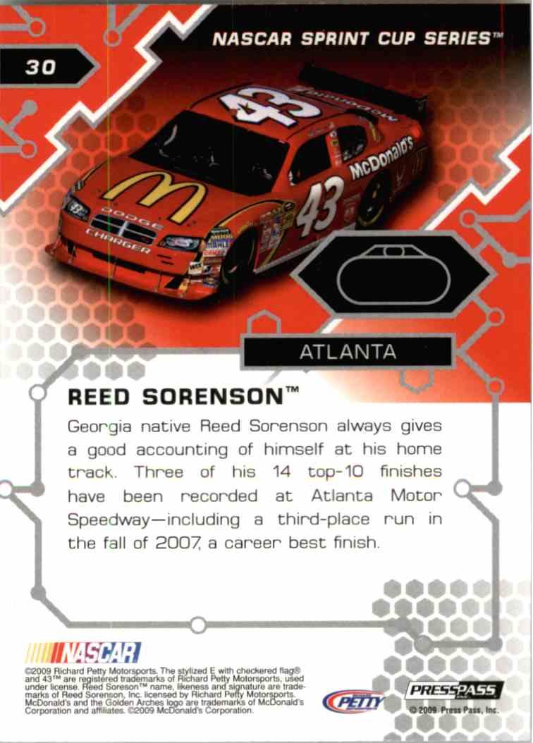 2009 Press Pass Stealth Reed Sorenson #30 card back image