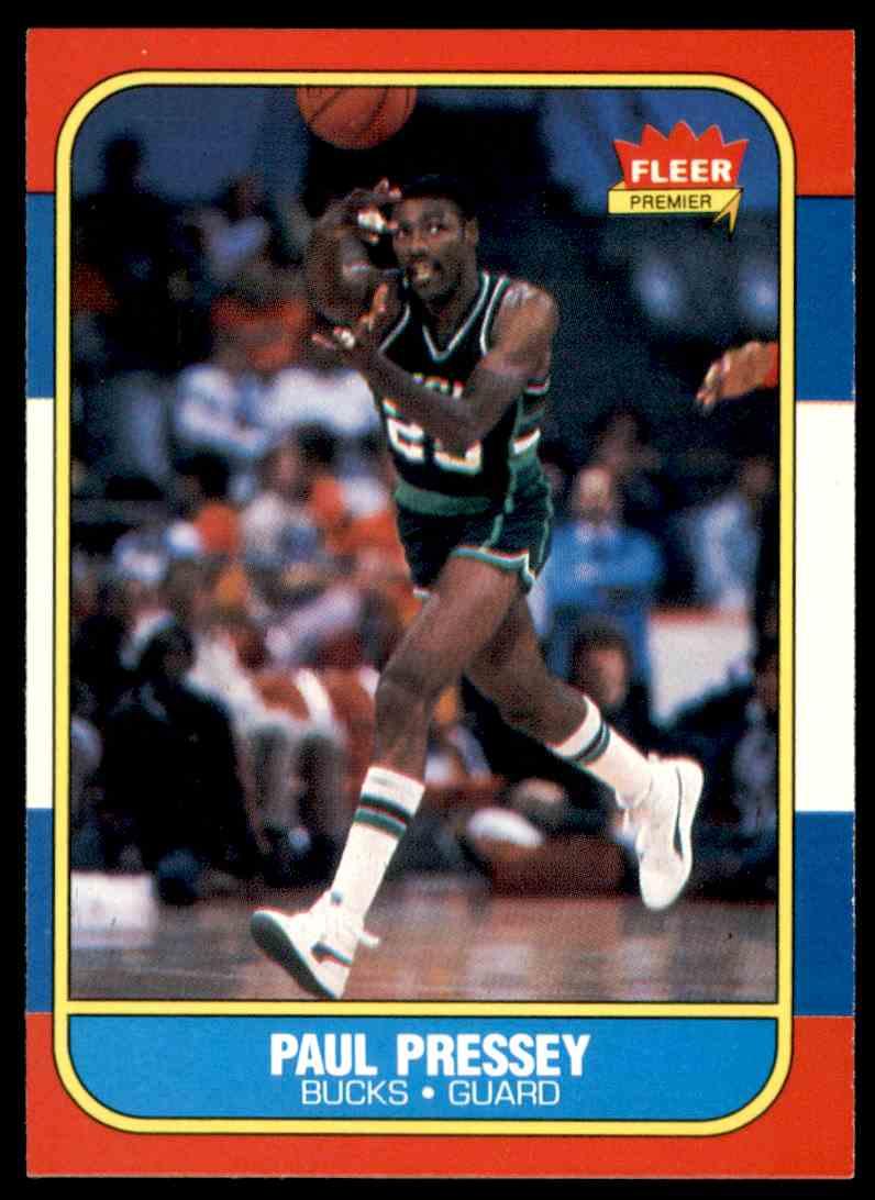 1986-87 Fleer Paul Pressey #88 OF 132 card front image