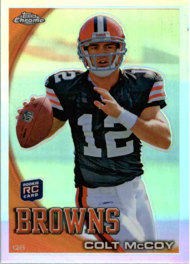 2010 Topps Chrome Colt McCoy #C70 card front image