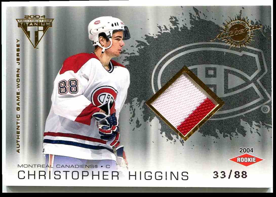 2003-04 Titanium Jsy RC Chris Higgins #211 card front image