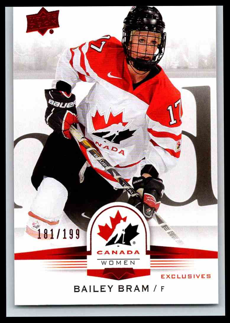 2014-15 Upper Deck Team Canada Juniors Red Bailey Bram #66 card front image