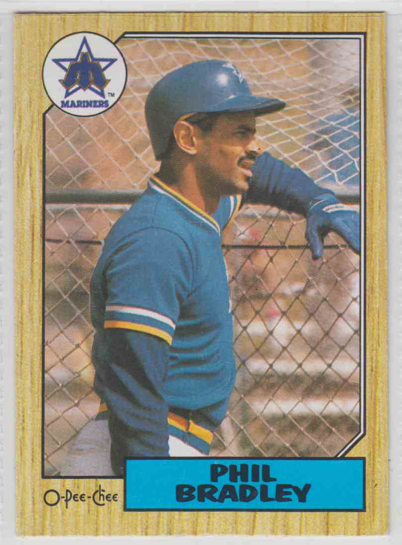 1987 O-Pee-Chee Phil Bradley #170 card front image