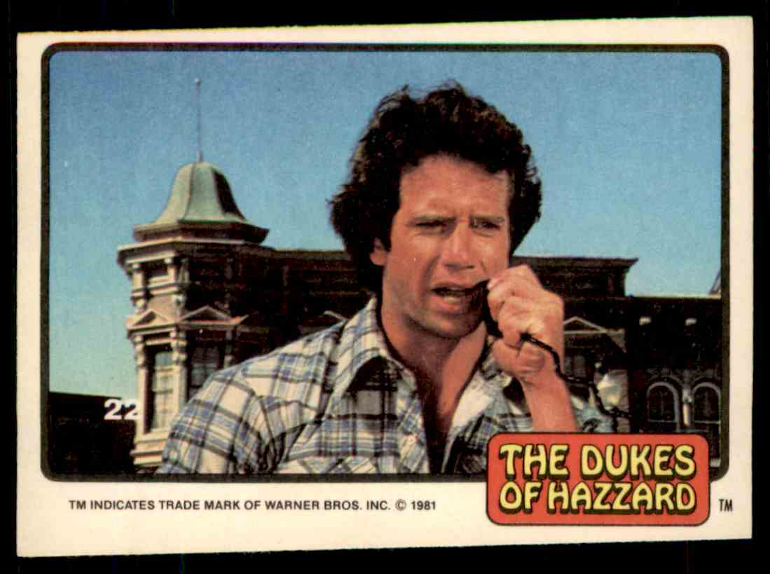 1981 Donruss Dukes Of Hazzard Card No. 22 #22 card front image