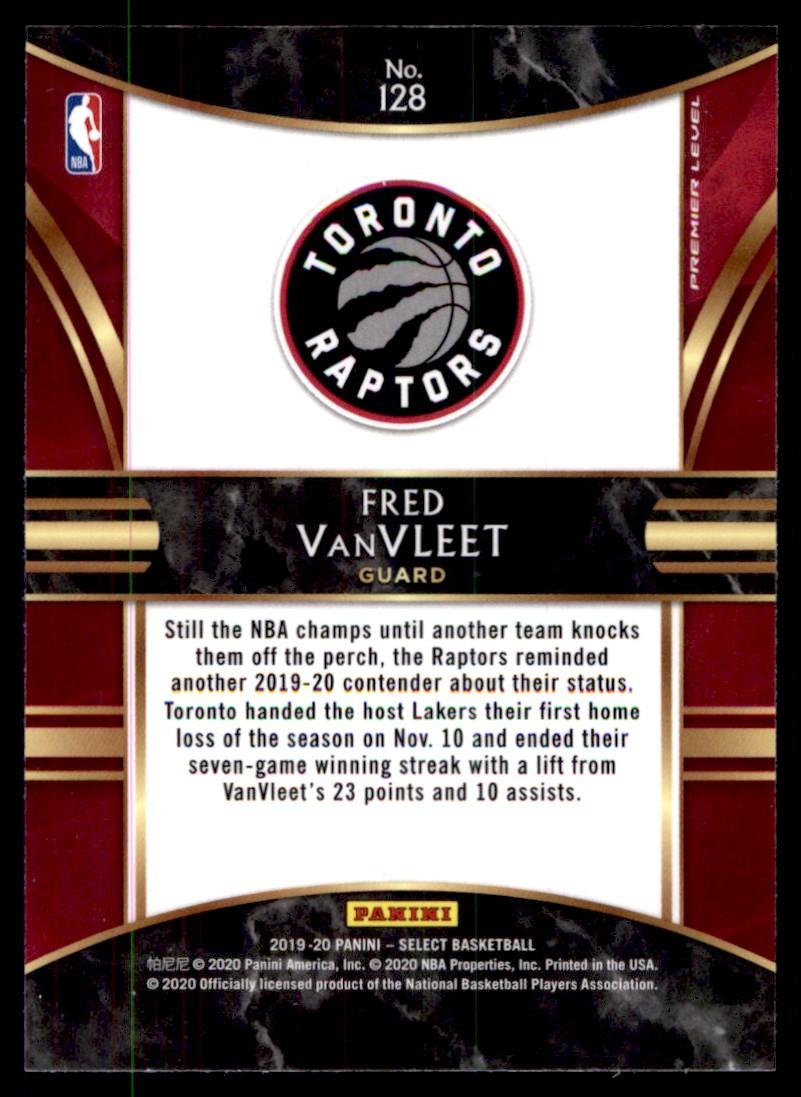 2019-20 Panini Select Fred VanVleet #128 card back image