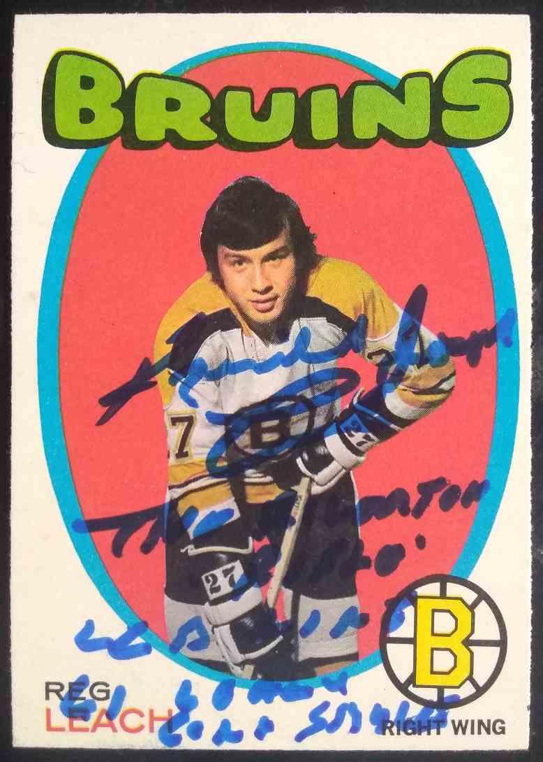 1971-72 O-Pee-Chee Reg Leach #175 card front image