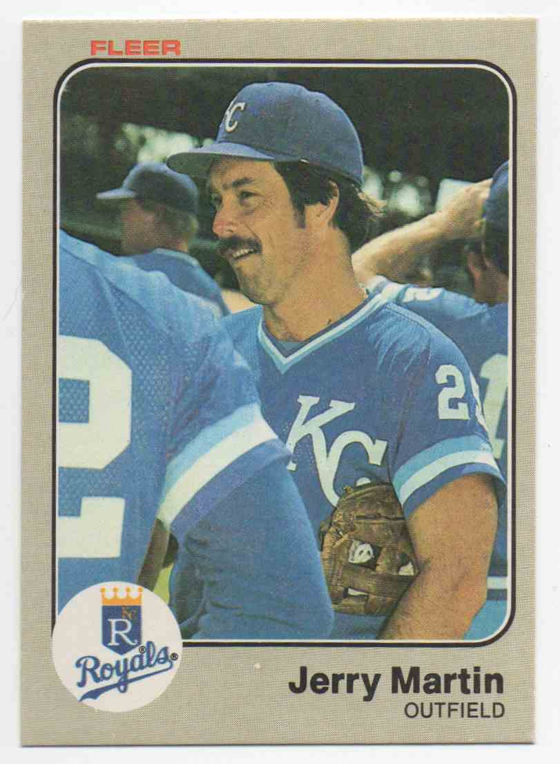 1983 Fleer Jerry Martin #117 card front image