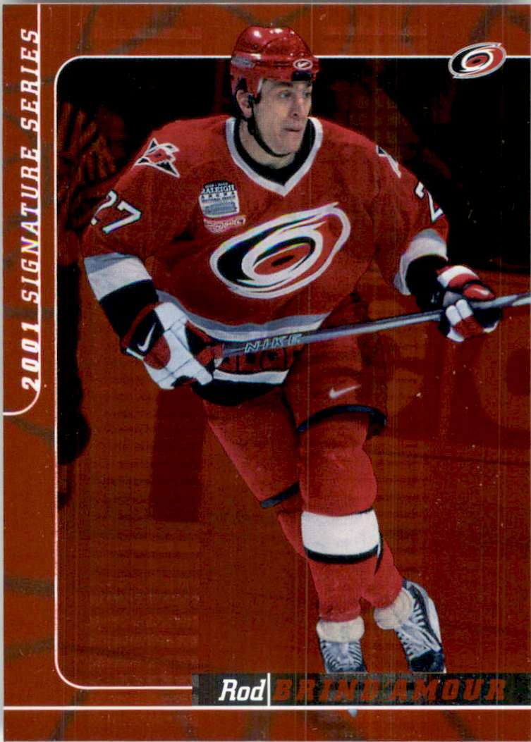 2000-01 Bap Signature Series Ruby Rod Brind'Amour #16 card front image