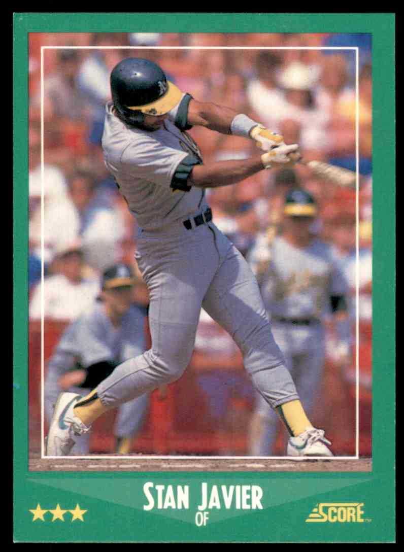 1988 Score Stan Javier #367 card front image