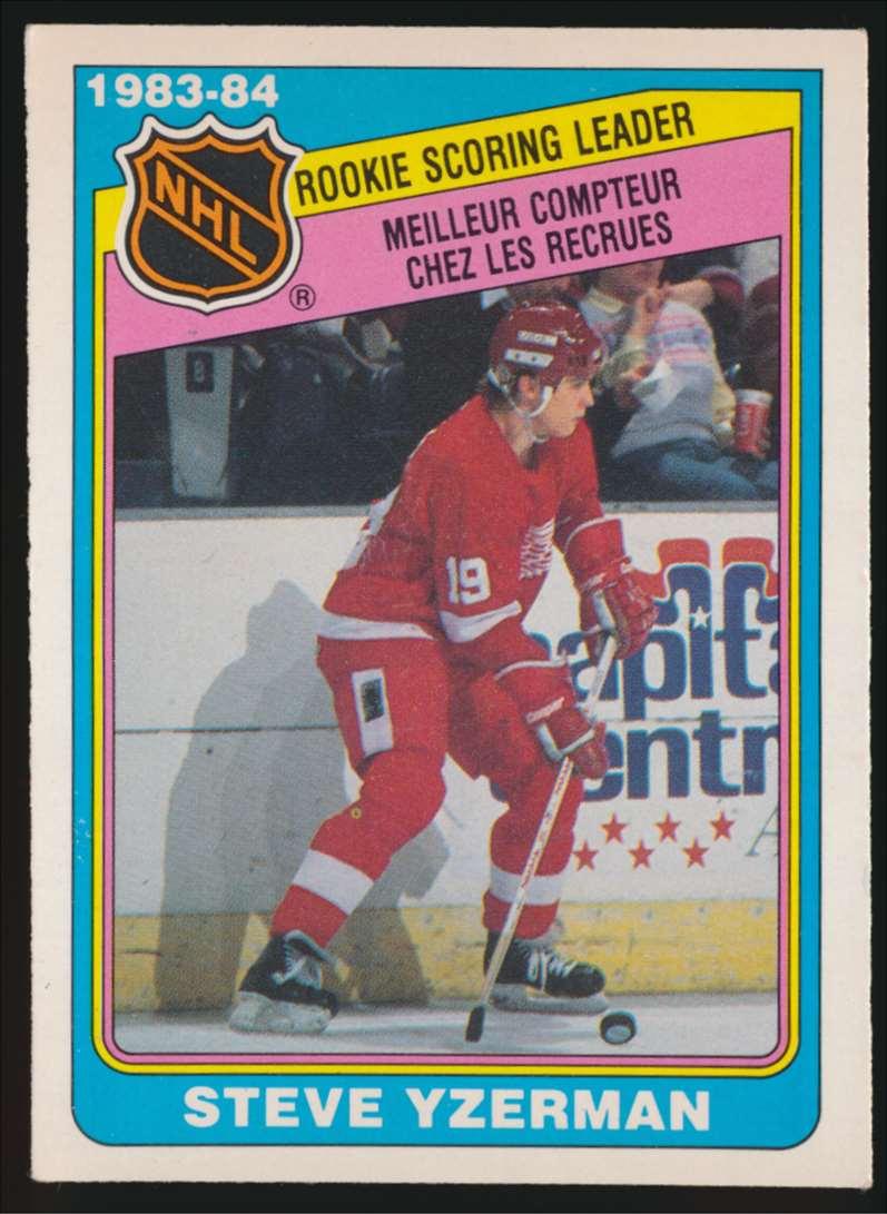 1984-85 OPC Rookie Sl Steve Yzerman #385 card front image