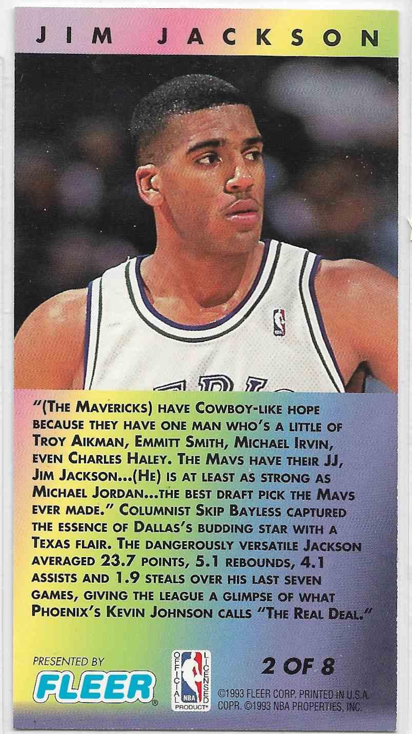 1993-94 Fleer NBA Jam Session Jim Jacksonj #2 card back image