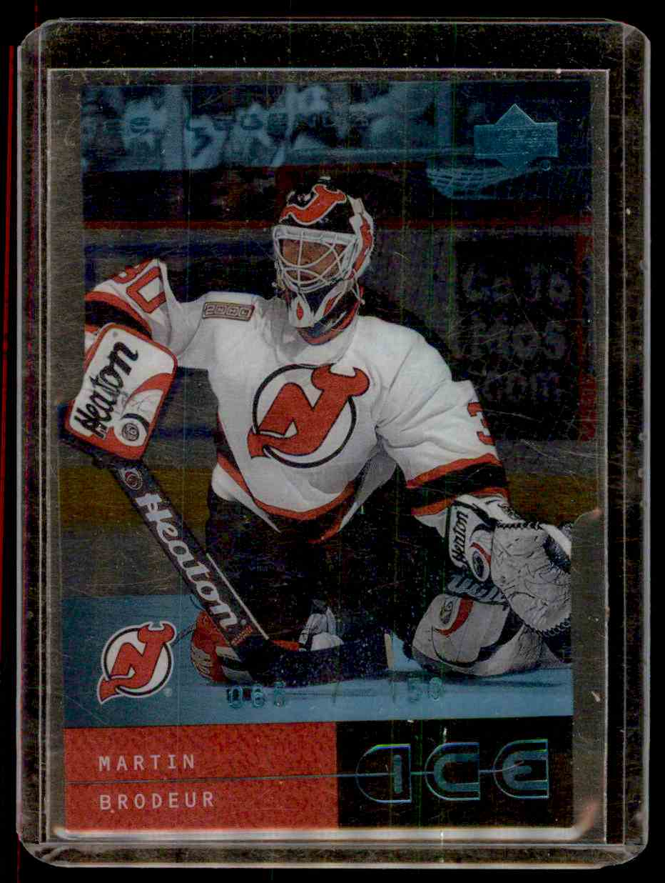 2000-01 Upper Deck Ice Legends Martin Brodeur #24 card front image