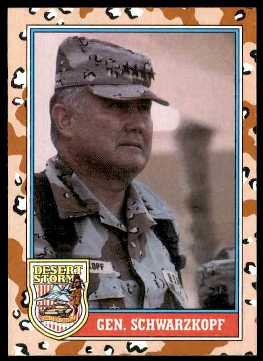 1991 Desert Storm Topps Gen. Schwarzkopf #157 card front image