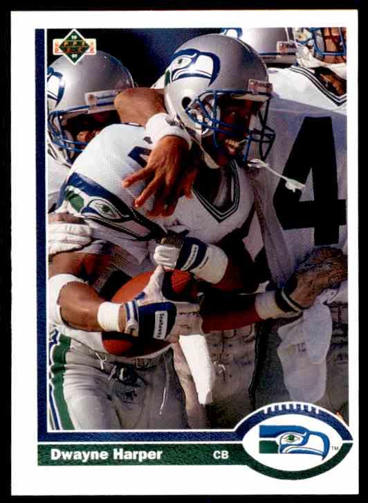 1991 Upper Deck Dwayne Harper RC #493 card front image