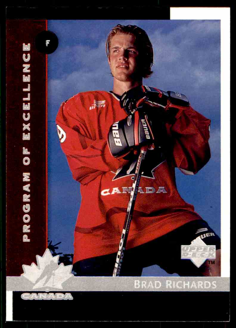 1997-98 Upper Deck Brad Richards #418 card front image