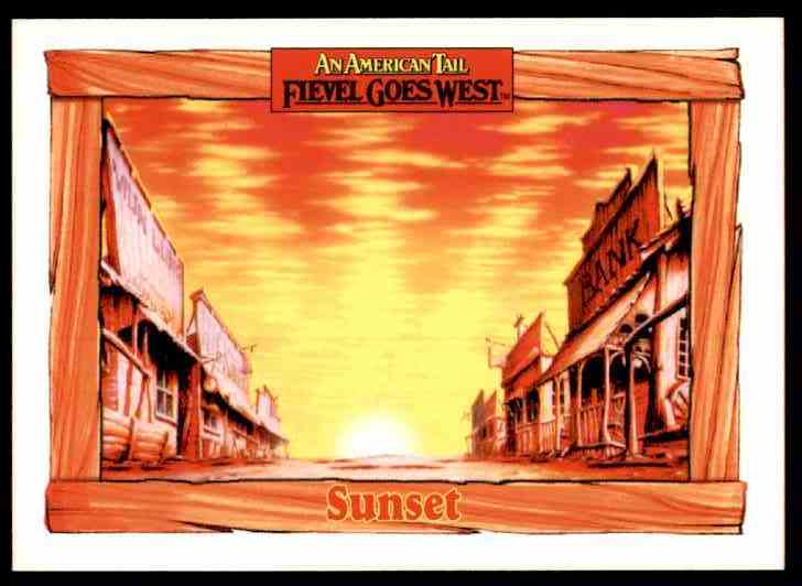 1991 An American Tail Sunset #102 card front image