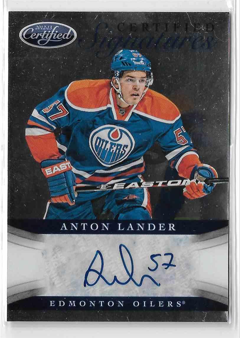 2012-13 Panini Certified Anton Lander #CS-AL card front image