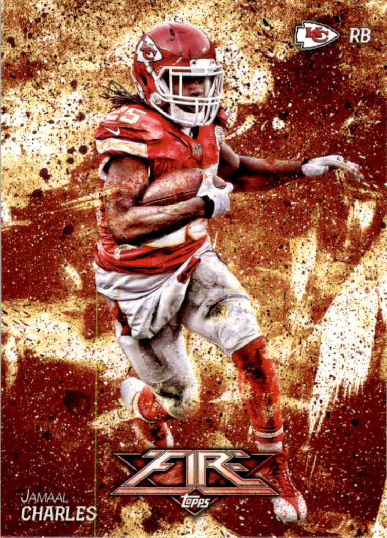 2014 Topps Fire Jamaal Charles #99 card front image