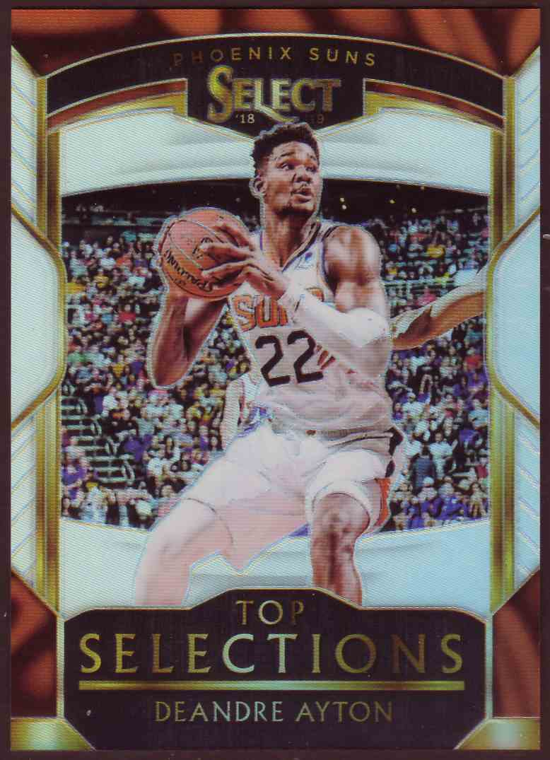 2018-19 Panini Select Top Selections Prizm Silver DeAndre Ayton #6 card front image
