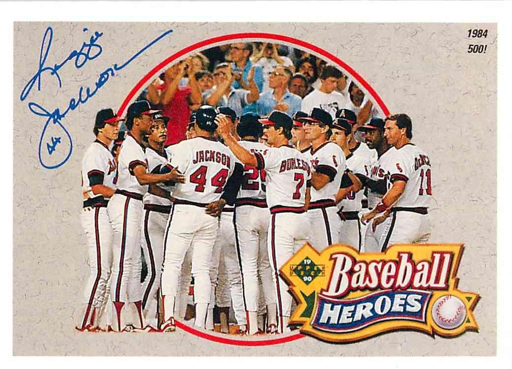 1992 Upper Deck Baseball Heroes Reginald Martinez Jackson 6 Of 9 On