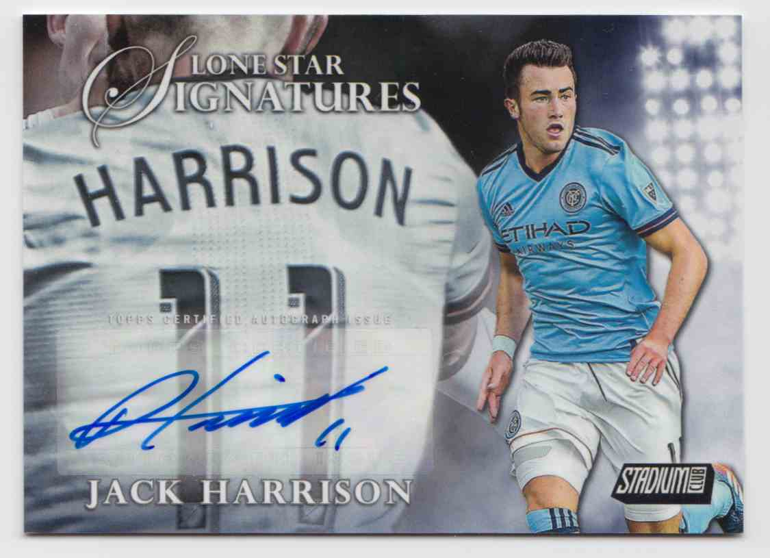 2017 Topps Stadium Club Lone Star Signatures Jack Harrison #LSS-JH card front image