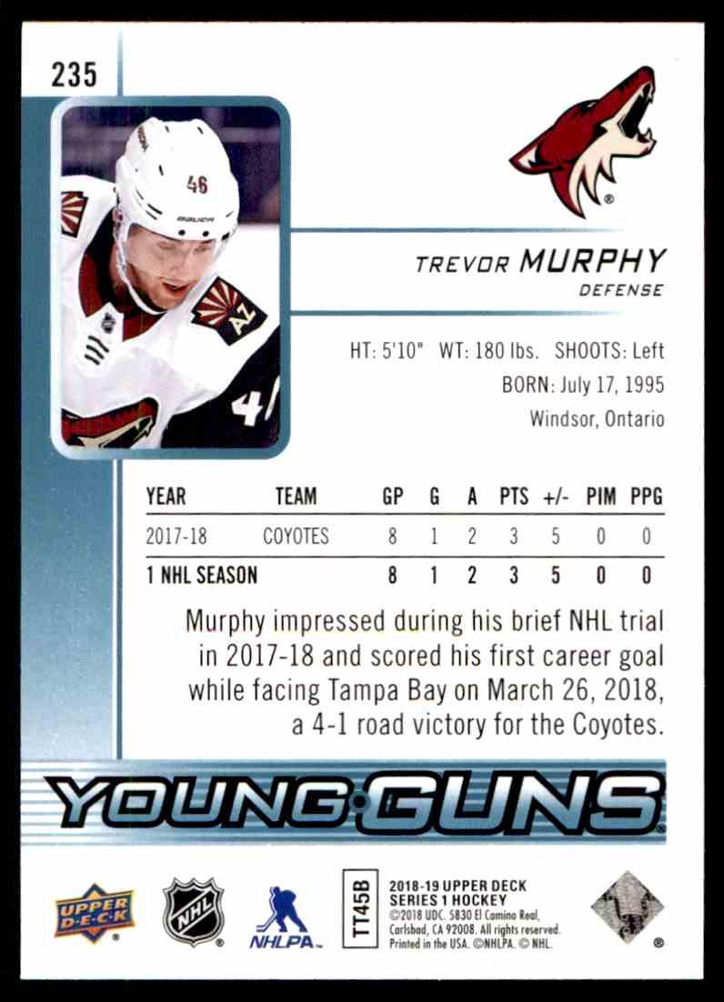 2018-19 Upper Deck ! Trevor Murphy #235 card back image