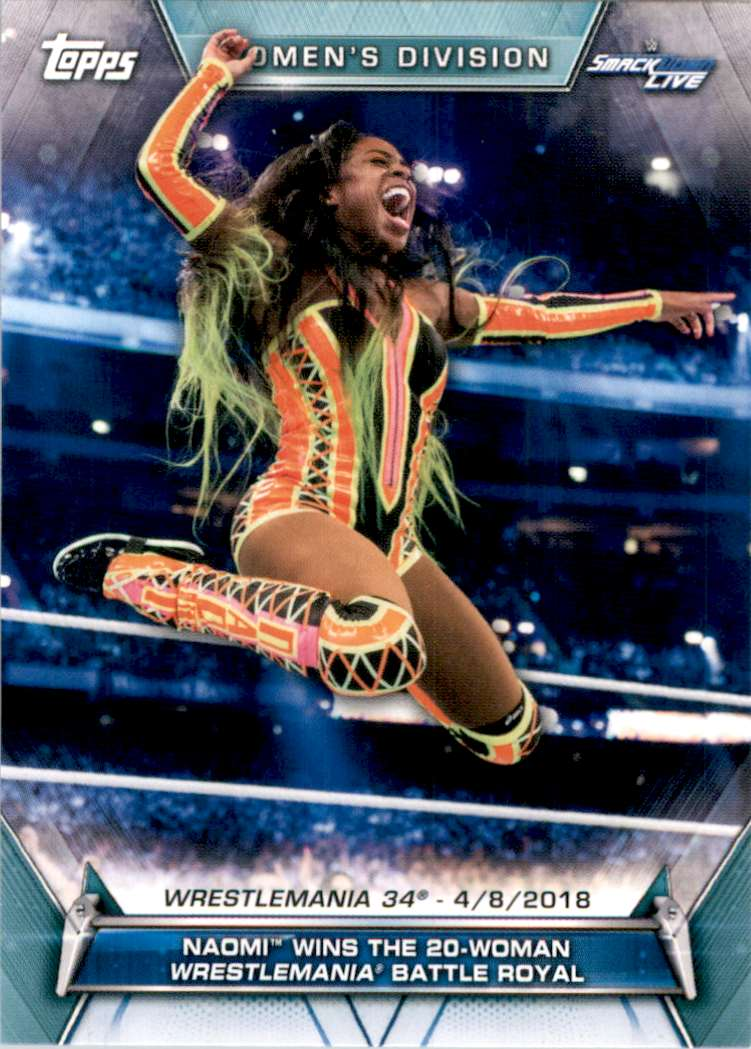 2019 Topps Wwe Women's Division Naomi Wins The 20-Woman WrestleMania Battle Royal #67 card front image