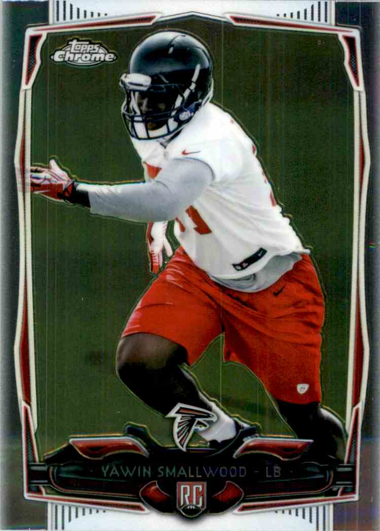2014 Topps Chrome Yawin Smallwood RC #128 card front image