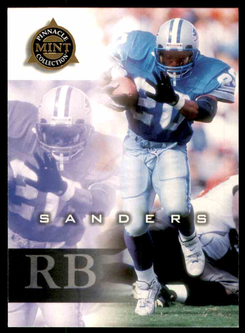 1998 Pinnacle Mint Barry Sanders #35 card front image
