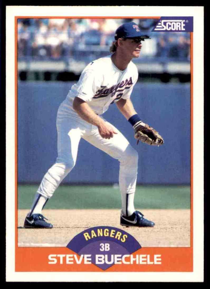 1989 Score Regular Steve Buechele #368 card front image